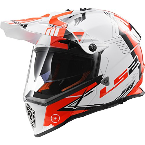 MX436 Pioneer Cross-Touring-Helm Trigger weiß rot 3XL - Motorradhelm