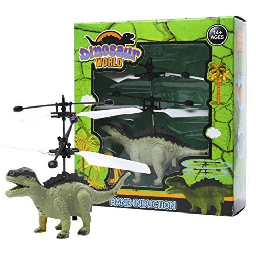 PBOHUZ Dinosaurio de inducción Carga USB Linda Dinosaurio de inducción de Mano Suspensión Aviones Juguete para niños con luz