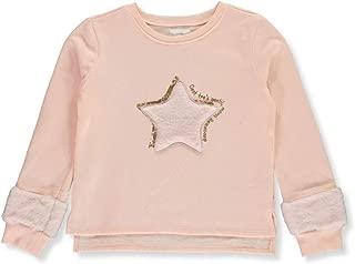 BCBG Girls' Accent Fur Sweatshirt