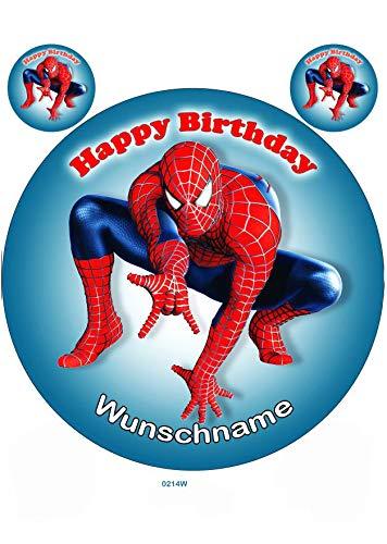 Spiderman, Essbares Tortenbild mit Wunschname, Tortenaufleger Ø 20cm - Super Qualität, 0214W