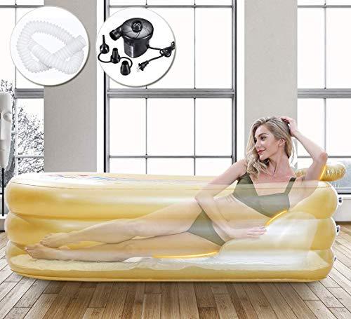 YIKANLIA Bañera Inflable Adulto, bañera Inflable para Ducha, con Bomba de Aire Electcirt Freestanding Bathtub Piscina Piscina Sauna Bañera de hidromasaje Ducha SPA