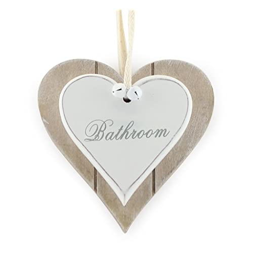 Rustic Wooden Bird and Hearts Hanging Home Decoration Shabby Chic Garland