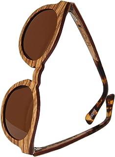 WOLA lunettes de soleil bois rond petite SELVA lunettes femmes rondes bois e acétate
