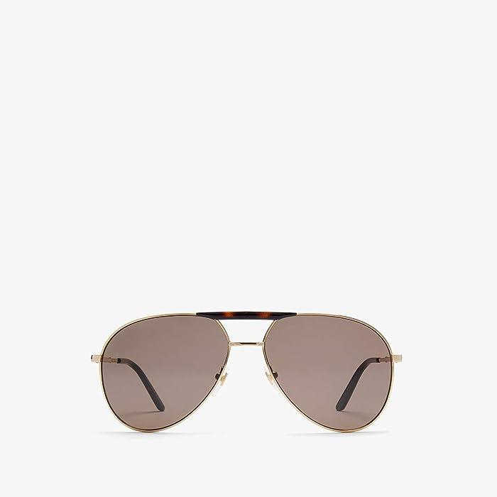 Gucci  GG0242S (Gold/Black) Fashion Sunglasses