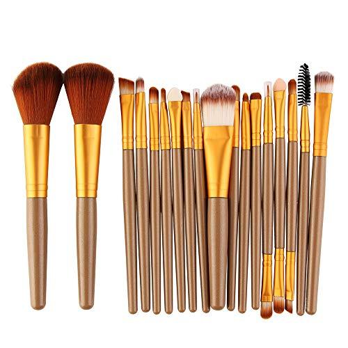 Pinceau de Maquillage Pinceaux de Maquillage Ensembles pinceaux de Maquillage Professionnel avec Blush Foundation Pinceau surligneur Blending Bleach Beauty Concealer Tools (18pcs)