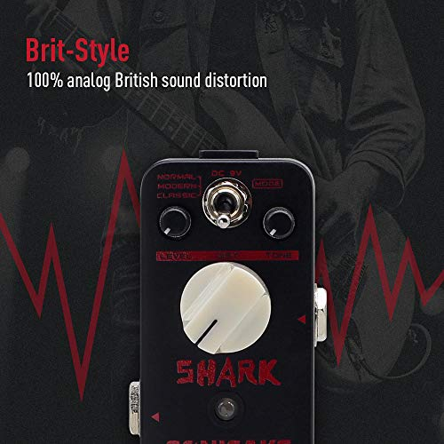 SONICAKE Shark Higain Classic British Stack Crunch High Gain Distortion Guitar Effects Pedal