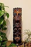 アジアン バリ 雑貨 アフリカントーテムポール(フクロウ) おしゃれ インテリア エスニック オブジェ 置物 木製