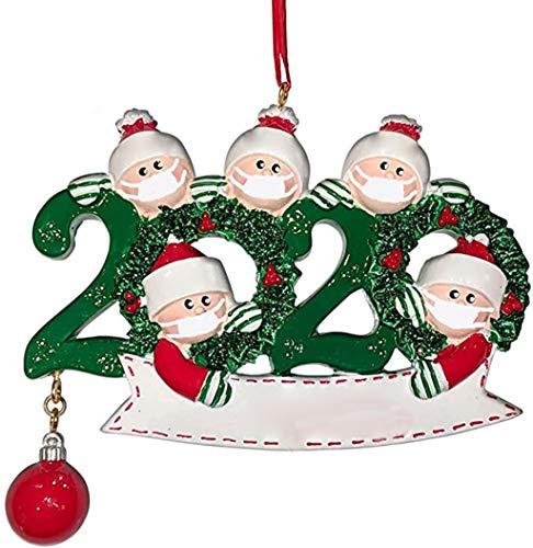Vectry Damen 2020 Weihnachten Deko Kit Baumschmuck Anhänger Weihnachten DIY handgemachte Dekoration Familie Weihnachtsdekoration Kit Kreative Geschenk für Denkmal