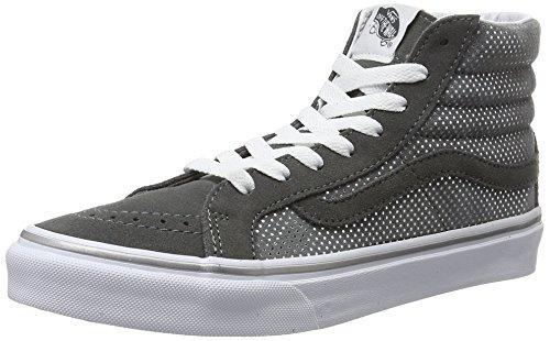 Vans UA Sk8-hi Slim, Zapatillas Altas para Mujer, Gris (Metallic Dots Dark Gray/Pewter), 36.5 EU