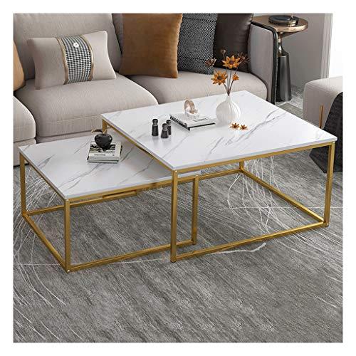 Couchtische Zweiteiliger Beweglicher Beistelltisch im Wohnzimmer Versenkbarer Großer Tisch Hochwertige Hardware Starke Tragfähigkeit Multifunktion