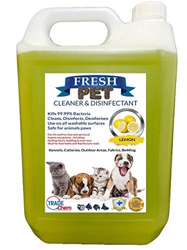 """Detergente e disinfettante """"Fresh Pet"""" per ambienti con cani e gatti, elimina il 99,99% dei batteri, elimina gli odori (profumazioni disponibili: ciliegia, alpina, limone, floreale, bubble gum)"""