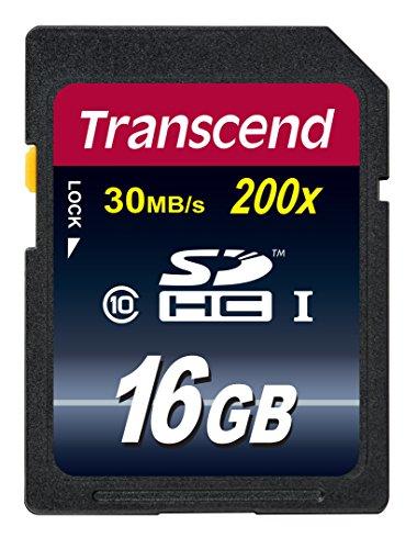 Transcend TS16GSDHC10 Scheda di Memoria SDHC da 16 GB, Classe 10