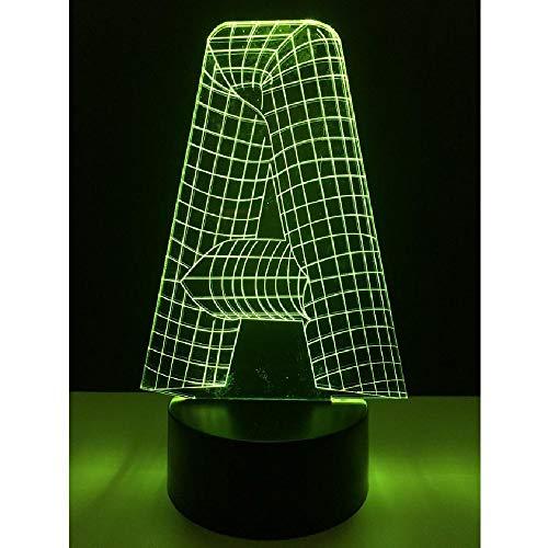Las Luces Nocturnas 3D Son Los Regalos Más Populares Para Año Nuevo Y Navidad. Las Letras Con 3 Efectos Estéreo Se Pueden Cambiar A 7 Colores, Que Es La Decoración Más Efectiva Del Festival.