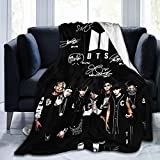 BTS Fan Art Ultra Soft Light Weight Warm Flannel Throws Blankets Couch Sofa Blanket for Bed Sofa Living Room Travelling Blanket Size 50X40 inch