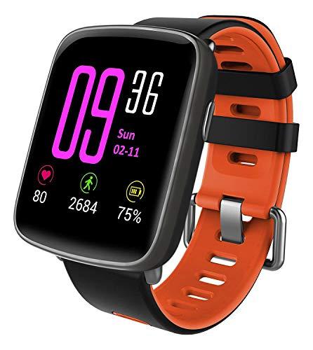 YAMAY Smartwatch Wasserdicht IP68 Smart Watch mit Pulsmesser Fitness Tracker Sport Uhr Fitness Uhr mit Schrittzähler,Schlaf-Monitor,Stoppuhr,Call SMS Benachrichtigung Push für Android und iOS