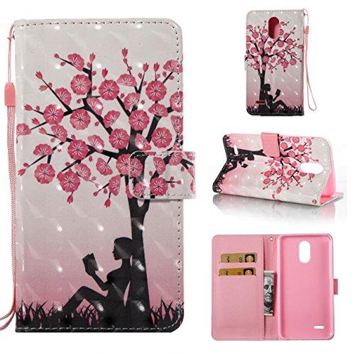 LG Stylo 3Fall, stabiler Ständer Wallet Fall mit inneren Silikon Bumper Cover Schutzhülle Flip Folio Schale Cover mit Kreditkarte Halter für LG Stylo 3/LG Stylus Projektoren 3/LS777, baum, LG Stylo 3