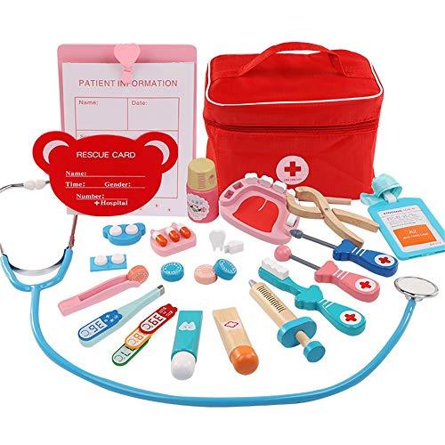 T-XYD Juegos de Juego de Doctor, Accesorios de casa de Juegos para niños Kit de Caja médica Juego de simulación Doctor Dentista Juguetes educativos de Aprendizaje