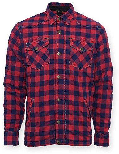 Bores Lumberjack Jacken-Hemd Rot, Reißfest, Wasserabweisend, Rot-Schwarz Kariert, Größe XL