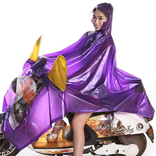 QNJM Poncho A Prueba De Agua, Motocicleta Eléctrica para Hombre Y para Mujer Sombrero Grande Impermeable, Gabardina para Motocicleta con Ranura para Espejo (Color : C)
