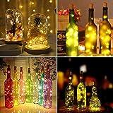 9x 20 LED Flaschen-Licht, Flaschenlichter Weinflasche Flaschenlicht Kork Flaschen Licht LED Lichter Lichterkette Flaschen DIY- Flaschen Lichter für Hochzeit Party Romantische Deko – [ Warm-weiß] - 5
