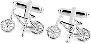 Silver Copper Bike Bicycle Shirt Cufflinks Cuff Links Men Groom Wedding Gift