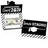 Big Dot of Happiness Senior Strong - Class of 2021 Graduation Party Money and Gift Card Holders - Set of 8