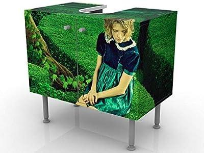 Credenza Per Bagno : Vasagle armadietto in legno mobile per il bagno con ante e