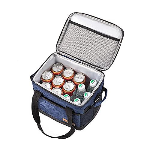 Caja de lonchera de picnic con aislamiento Cajas de enfriador de vino de lados suaves Bolsa de enfriador reutilizable a prueba de fugas grande para acampar Barbacoa Compras Actividades familiares al