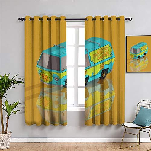Scooby Doo - Cortinas de tratamiento para ventana, 153 x 163 cm
