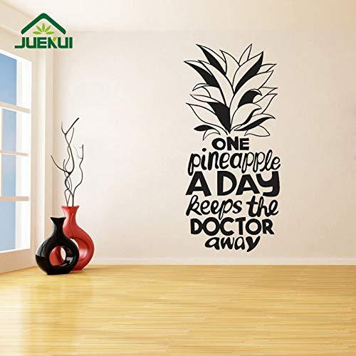 jiushizq Eine Ananas EIN Tag Entfernbare Wandaufkleber Für Kühlschrank Vinyl Aufkleber Wohnzimmer Schlafzimmer Kunst Dekor Wandbilder Rot 56X120 cm