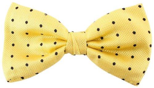 Knightsbridge Neckwear Yellow/Black Spots Silk cravate de