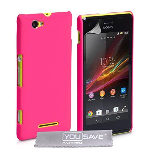 Yousave Accessories®-Custodia Rigida Ibrida per Sony Xperia M-Hot, Colore: Rosa