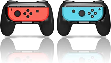 YOSH Joy Con Grip for Nintendo Switch Controller Set of 2 Mario Kart 8 Deluxe Handle Comfort Pro Grip Kits Enlarge Ergonomic Design Suggested for Luigi's Mansion 3 Super Smash Bros Minecraft Pokémon