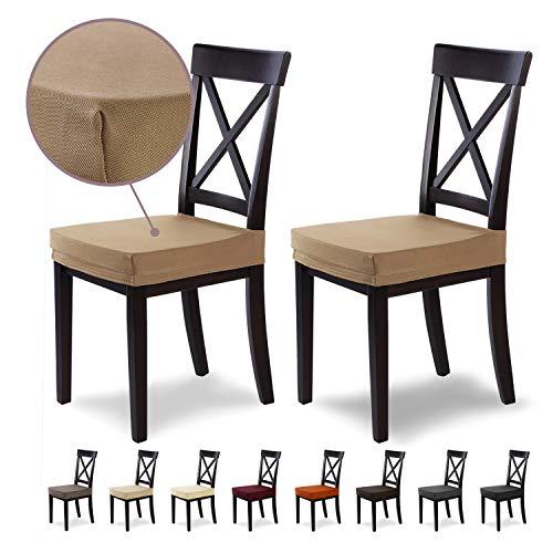 SCHEFFLER-Home Stretch Stuhlbezug Marie   2er Set elastische Stuhlauflagen mit Fleckschutz   wasserabweisender Sitzbezug Esszimmerstuhl   Elegante Auflage für Stühle   Stuhlhussen Stretch