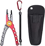 Entsport Saltwater Fishing Pliers with Aluminum Handles and...