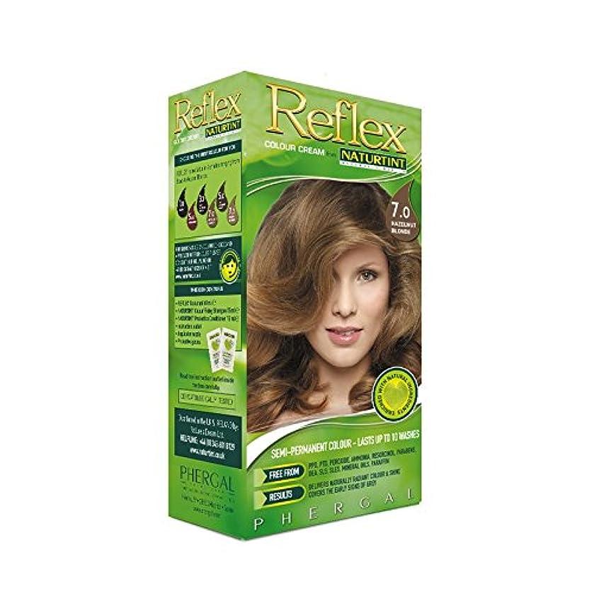 の面では容量マトロンNaturtint Reflex Non Permanent Colour Rinse 7.0 Hazelnut Blonde (Pack of 6) - Naturtint反射非永久的な色7.0ヘーゼルナッツブロンドをすすぎます (x6) [並行輸入品]