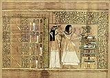 Kunstdruck/Poster: Ägyptische Malerei Totenpapyrus des Ani