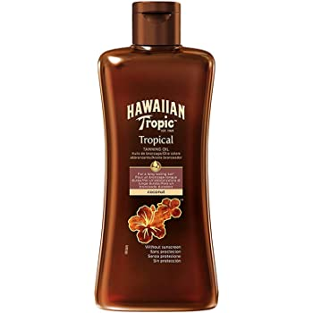 Hawaiian Tropic TROPICAL TANNING OIL SPF 0 DARK, Olio solare - 200 ml