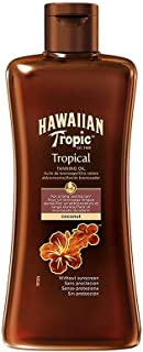 Hawaiian Tropic Tropical Tanning Olie, SPF 0, 200 ml