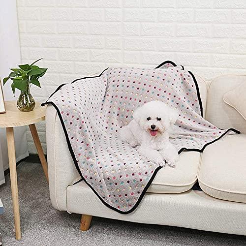 BUNANA Colchon Mascotas para Verano, Alfombrilla Refrescante para Perros Gatos Alfombra De Enfriamiento Manta Auto Refrigerante Mascotas Ideal para Perros Gatos En VeranoWhite-80 * 60CM (31 * 23)