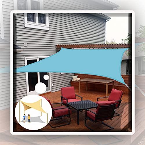 WULIL Toldo Vela De Sombra, Capota Impermeable con 98% De Protección UV Toldo Resistente De La Sombra del Sol del Bloque De La Prenda Impermeable del Patio del Grado Comercial Fácil De Colgar
