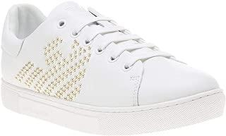 Emporio Armani Stud Logo Court Womens Sneakers White