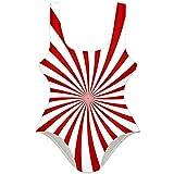 TIZORAX traje de bao de una pieza con patrn de espiral, hipnosis roja, traje de...