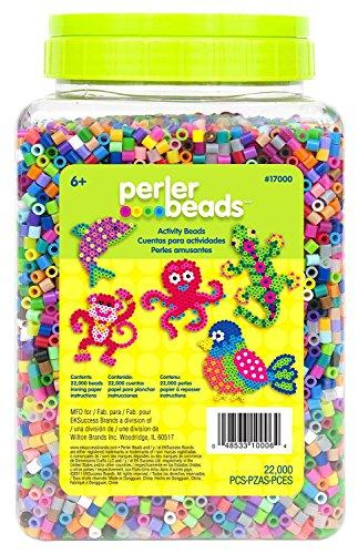 Perler 17000 Beads 22,000 Count Bead Jar Multi-Mix Colors - 2 Pack Jars