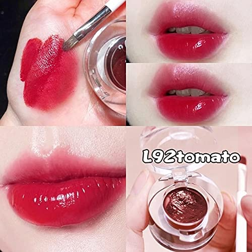02 Ieidi Mirror Lipstick Canned Lip Mud High Color Rendering Smooth Texture Long Lasting With Lip Brush Lip Glaze Lips Makeup Tool