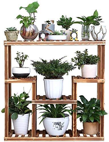 Titular de la maceta Flower Stand PHTW -Gran capacidad de 5 pisos clasificación Estantería cobertizo y garaje de almacenamiento con estanterías for el jardín de efecto invernadero Soporte de planta