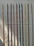Lista completa di chiodi con Foro per tappezzeria divano sedia poltrona in vari colori (Nichel satinato)
