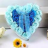Ashui 24 Stücke Herz Duftbad Körper Blütenblatt Rose Blume Seife Hochzeitsdekoration Geschenk...