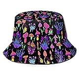 Photo de 136 Chapeau de soleil coloré hallucinogène trippy pêcheur à large bord chapeau boonie casquette papa casquette pour la course à pied, la gym