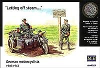 マスターボックス 1/35 独オートバイ兵サイドカー ウップン晴らし プラモデル